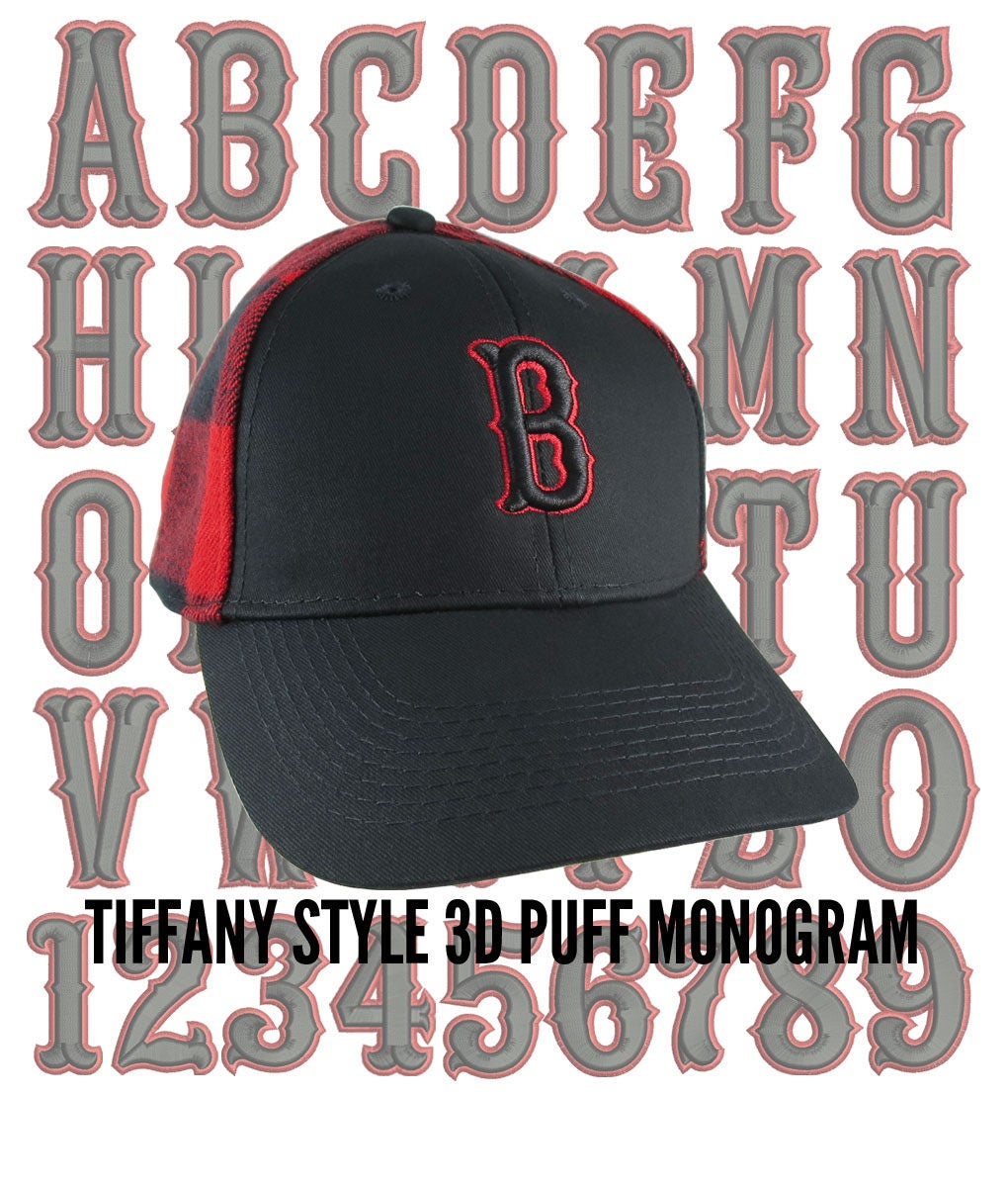 Your Custom Personalized Black and Red 3D Puff Monogram Embroidery on an  Adjustable Stylish Baseball Cap in Black and Buffalo Check Plaid 210725de30f7