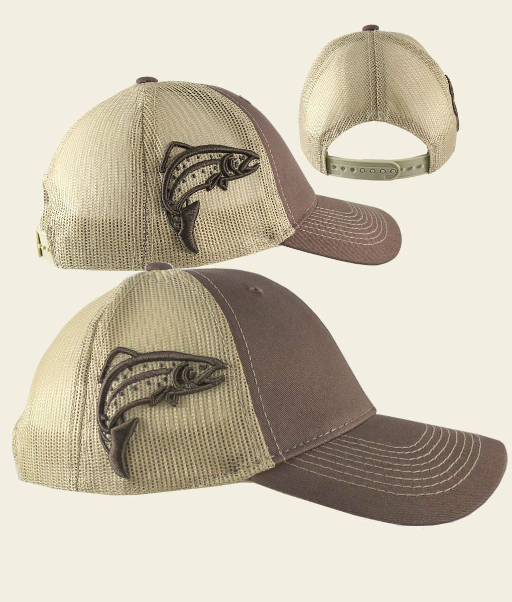 7c98213f54526 Custom Personalized Trout 3D Puff Raised Embroidery on an Adjustable ...