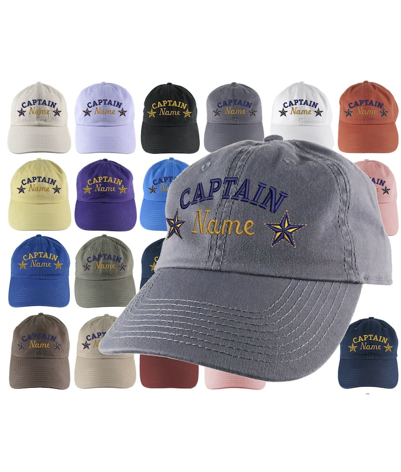 779f55896 Custom Personalized Captain First Mate Skipper Crew Embroidery on Your  Selection of Adjustable Unstructured Baseball Cap Dad Hat + Option