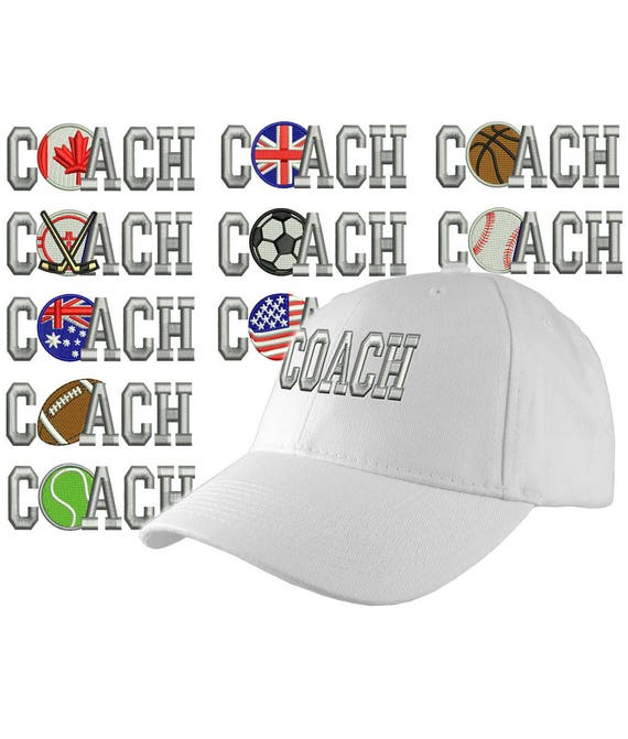 41897de1220 Custom Personalized Coach Embroidery on an Adjustable