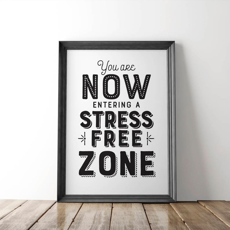 photo about Free Printable Inspirational Posters named Frustration No cost Zone PRINTABLE Poster Inspirational Property, Revolutionary Decor