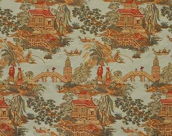 Beautiful Toile Fabric // Gates Jade // Gates Onyx