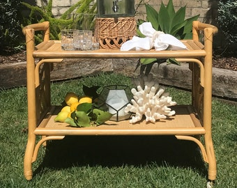 bamboo bar cart. Vintage Bamboo Bar Cart, LOCAL PICK UP, Mid Century, Modern, Bohemian, Coastal, Rattan, Wicker, Hawaiiana, Lounge, Tropical Cart T