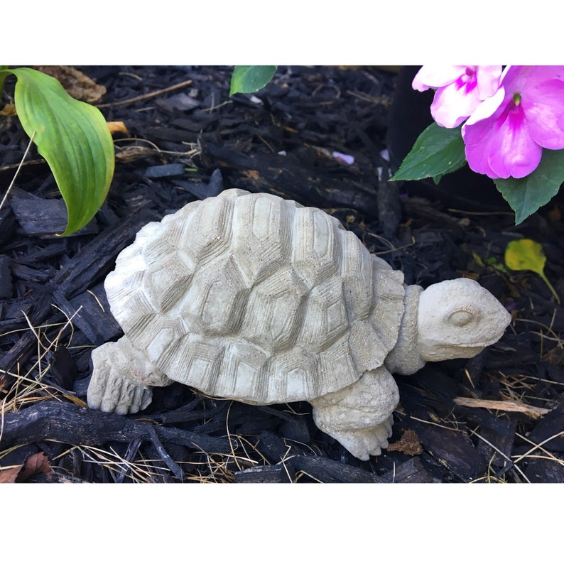 Concrete Tortoise Statue Concrete Garden Statue Garden Etsy
