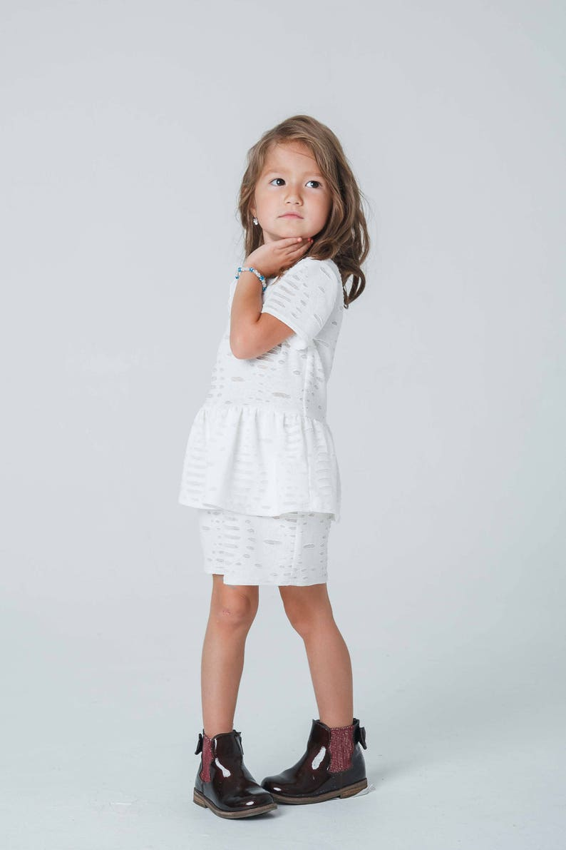 99c5bda14f355 Toddler/Girl white/ivory peplum dress