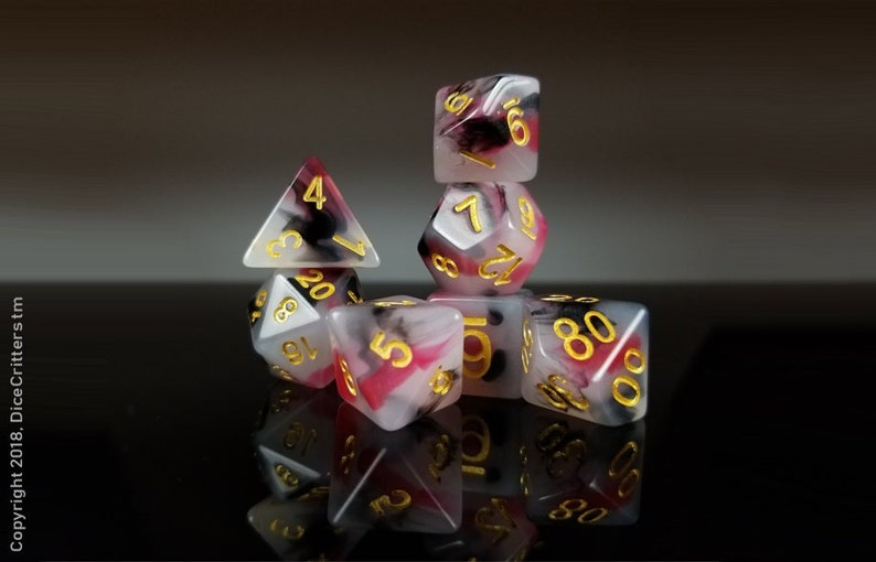 5357e05aac2 DnD Dice Set   Red Black
