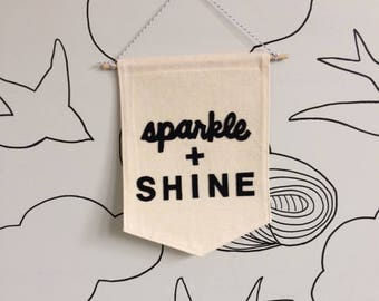 Sparkle and Shine Cloth Wall Hanging Banner
