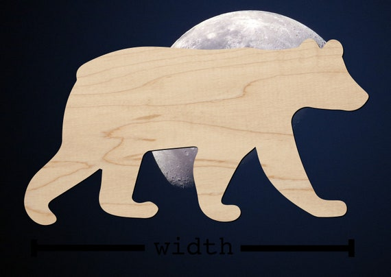Smokey The Bear Reproduction Laser Cut Out Animal Sign 9x24