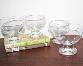Retro 70s Large Cocktail / Parfait Bowl Glasses (x4) .. Vintage Cocktails / Drinks Bar Party