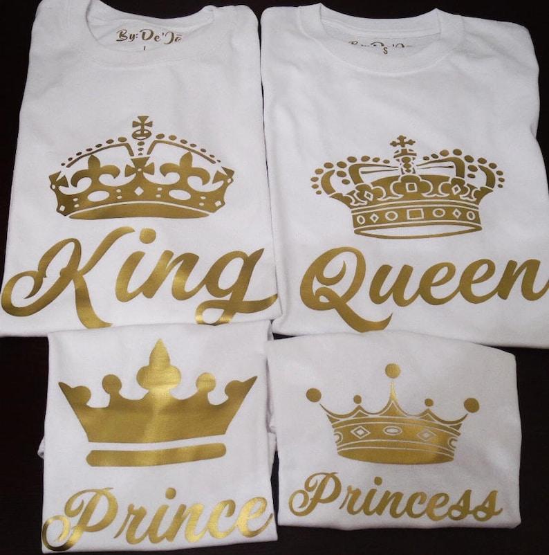 2bb86b34 King Queen Princess Prince Shirt White Gold Family Royal Crown   Etsy