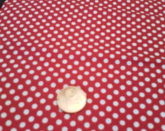 patchwork 100% cotton red white polka dot fabric
