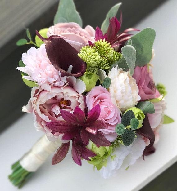 Silk Bridal Bouquet Wedding Bouquet Fall Wedding Bridal Etsy