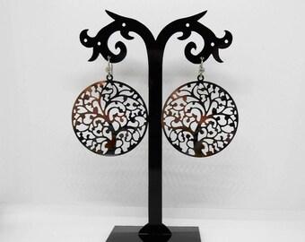 Tree of life earrings stainless steel