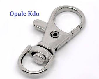 Key chain carabiner 37 x 16 mm metal silver