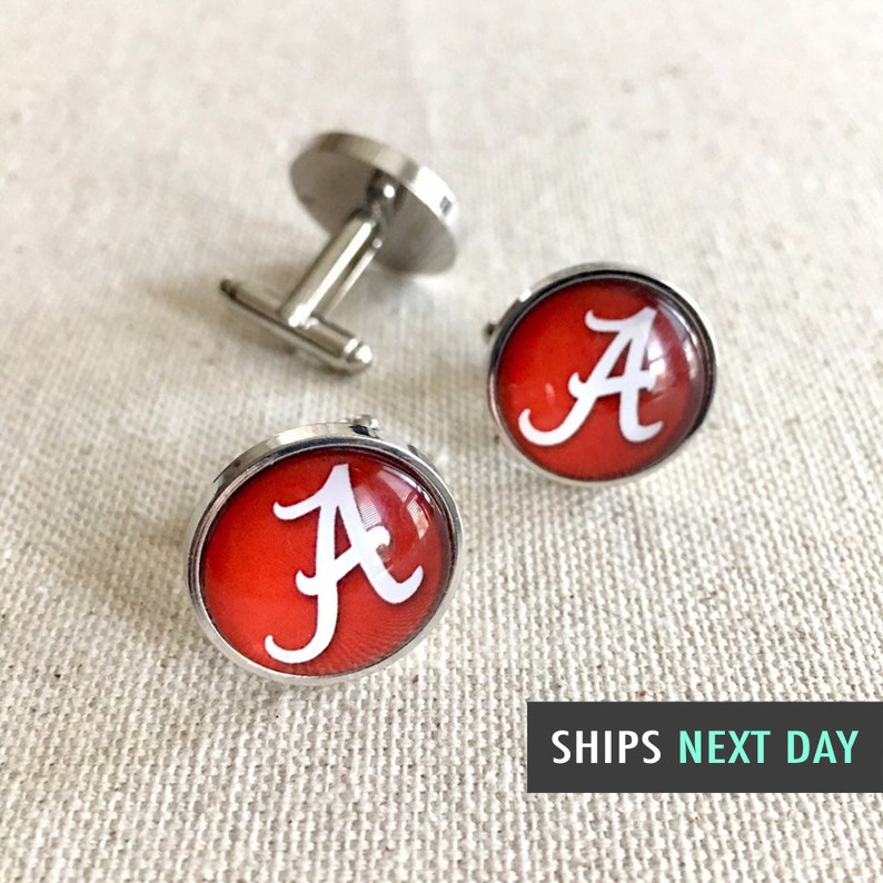 Alabama Cuff Links Sterling Silver
