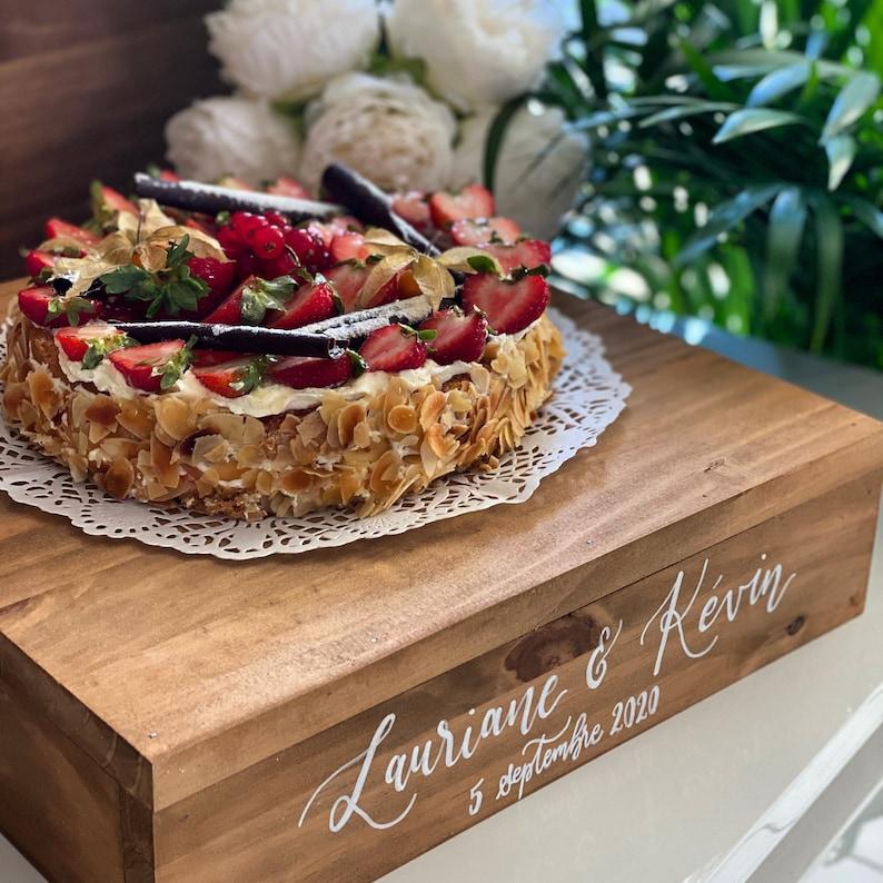 Kuchenstand Holz für Hochzeitstorte