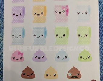 KAWAII POOP n PAPER | Toilet Training | Planner Stickers