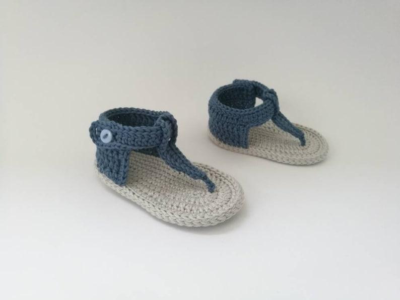 e6af55cac Baby boy blue summer sandals Crochet sandals boy Blue