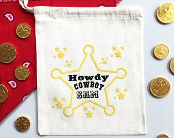 Personalised Cowboy / Cowgirl Party Bag