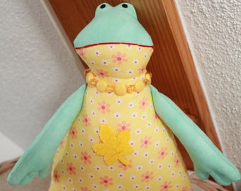 Yellow and Green Frog plush