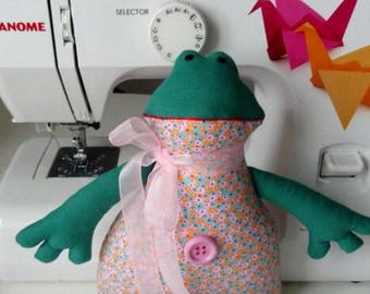 Yellow and Green Frog plush