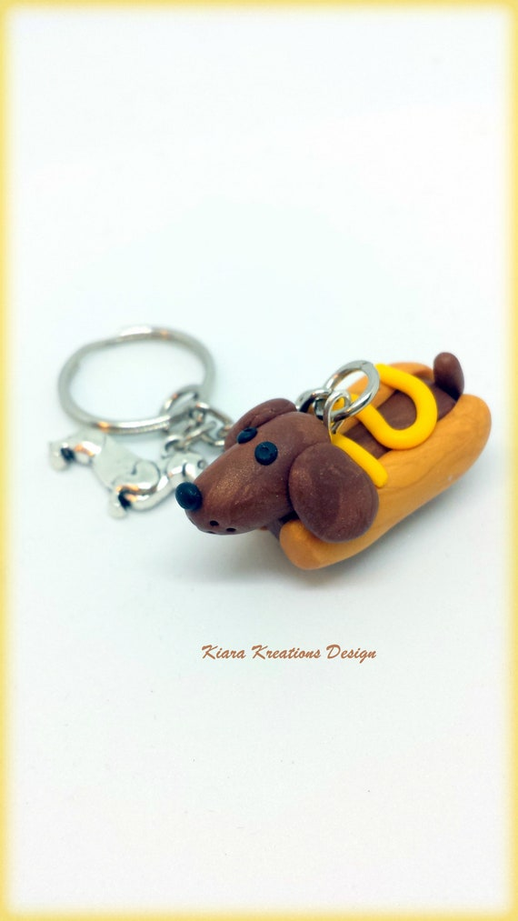 Dachshund Doxie Mom Keychain Gift US SELLER Sausage Dog