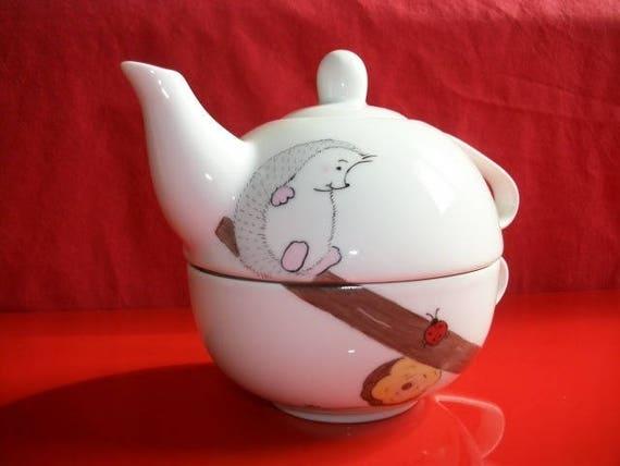 Tassen Theiere théière ou égoïste en porcelaine de limoges décorée à la main | etsy