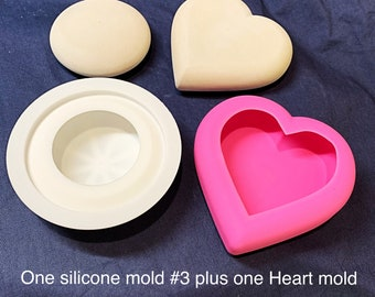 Combo Deal - Heart Mold plus stone Mold #3 by Happy Dotting silicone mould rock