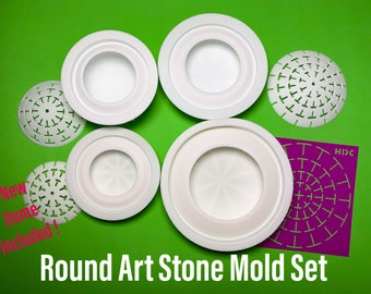 Round Art Stone Molds Combo Deal