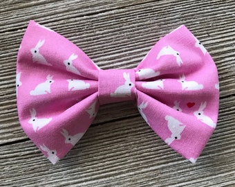 Some Bunny Loves you Pink bow,Bunny Bow,Bunny headband,Easter Bow,Spring Bow,Nylon Headband,hair Clip,bow,Fabric Bow,bows for girls