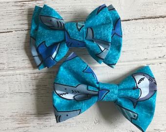 Shark Bow,Shark Bow Tie,Shark Hair clip,Shark Headband,Shark Clip,Jaws Bow,Jaws Bow Tie,Ocean Bow,Ocean Bow Tie,Hair Bow,Bow,Clip,Headband