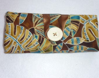 Pockets for barrettes and elastics Brown/blue turquoise