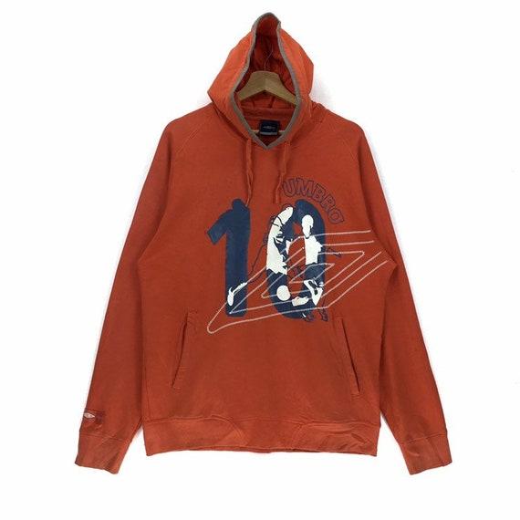Vintage Umbro Hoodie Sweatshirt Number Ten Sweatsh