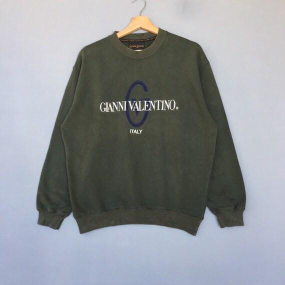 Rare!! Vintage GIANNI VALENTINO ITALY Sweatshirt E
