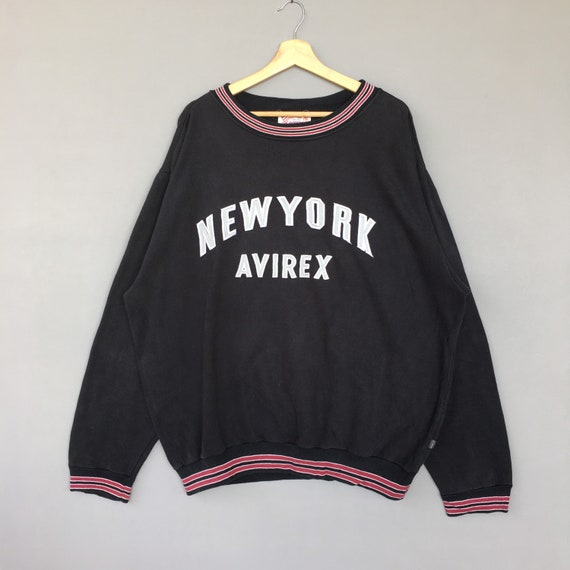 Vintage New York Avirex Sweatshirt Embroidered Log