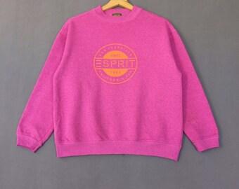 ESPRIT Sweatshirt pullover Jumper Sweatshirt Print Out Logo Sweatshirt