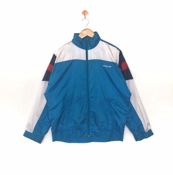 Adidas Jacke Vintage 90er Jahre Adidas Baum Öl Sportwear Trainer Adidas drei Streifen Activewear Wind Runner Windbreake Sportswear