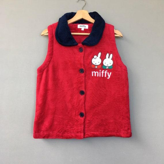 Cartoon Rabbit Miffy fleece Button Up / Miffy cart