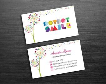 Dandelion business cards etsy dotdotsmile business card dot dot smile custom business cards dds business card fast personalized dandelion dds01 reheart Gallery