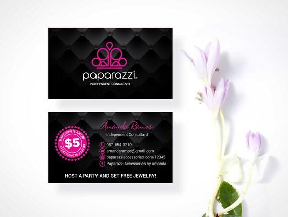 Carte De Visite Paparazzi Sur Mesure Accessoires Logo Back Office Rapide Gratuit Personnalisation