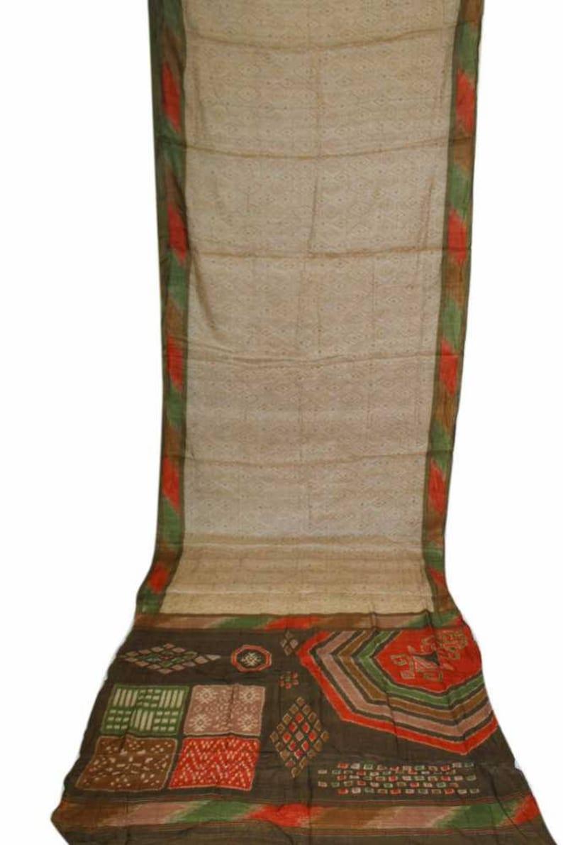 Free Shipping Vintage 100pure Silk Sari Indian Clothing Multi Etsy