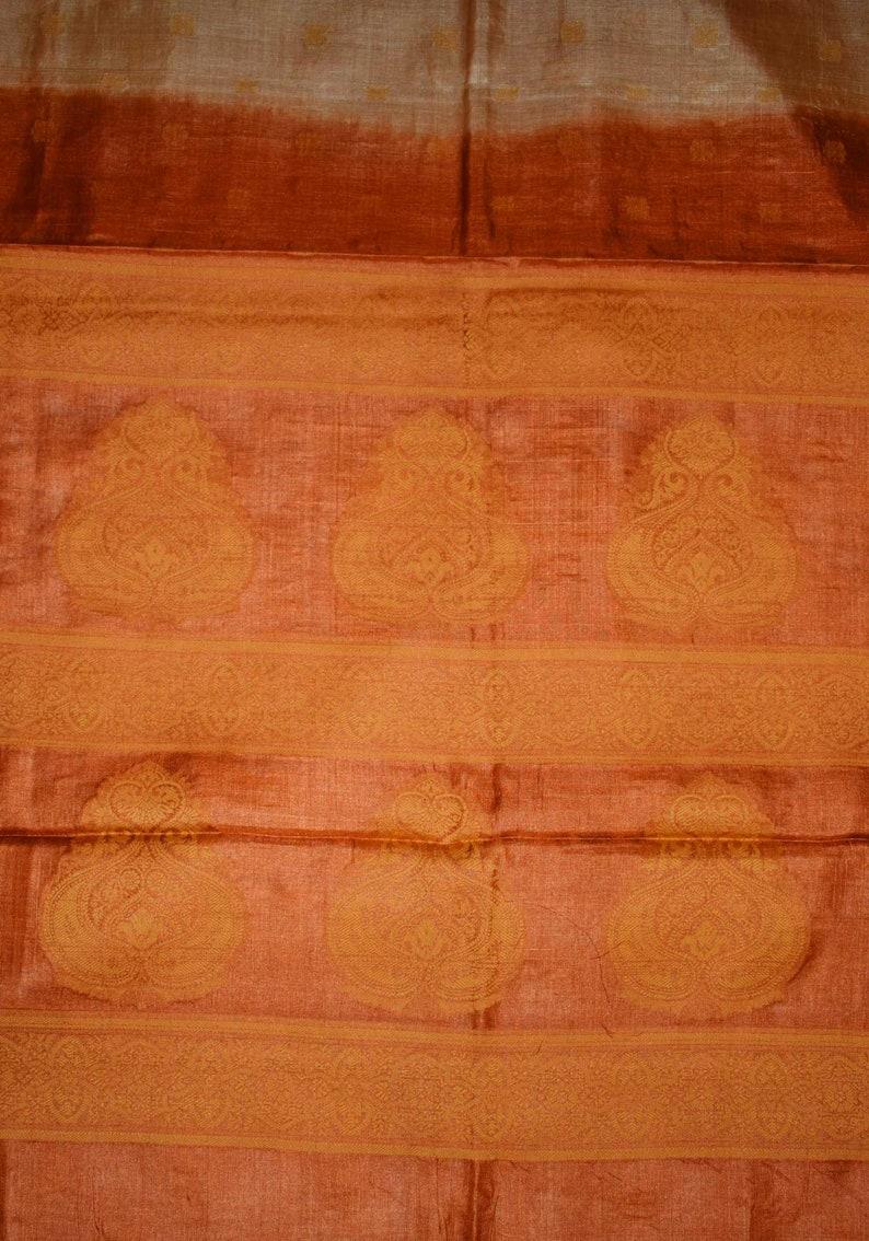 Antique Handmade Indian Old Silk Saree Bollywood Party Wear Sari Zari Work Used Wear Women Brown Saree 5 Yard Vintage Banarasi Loose Fabric
