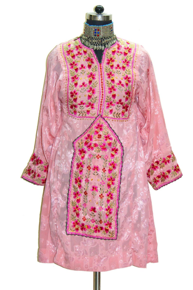 faaaddbac7c Vintage pakistan afghan dress hand embroidery work Boho gypsy | Etsy