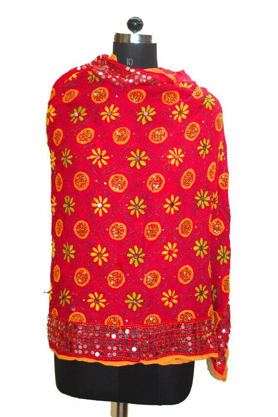 884ae7ea2df6 Ancien Vintage indienne Punjab étole couleur rose foulard Long   Etsy