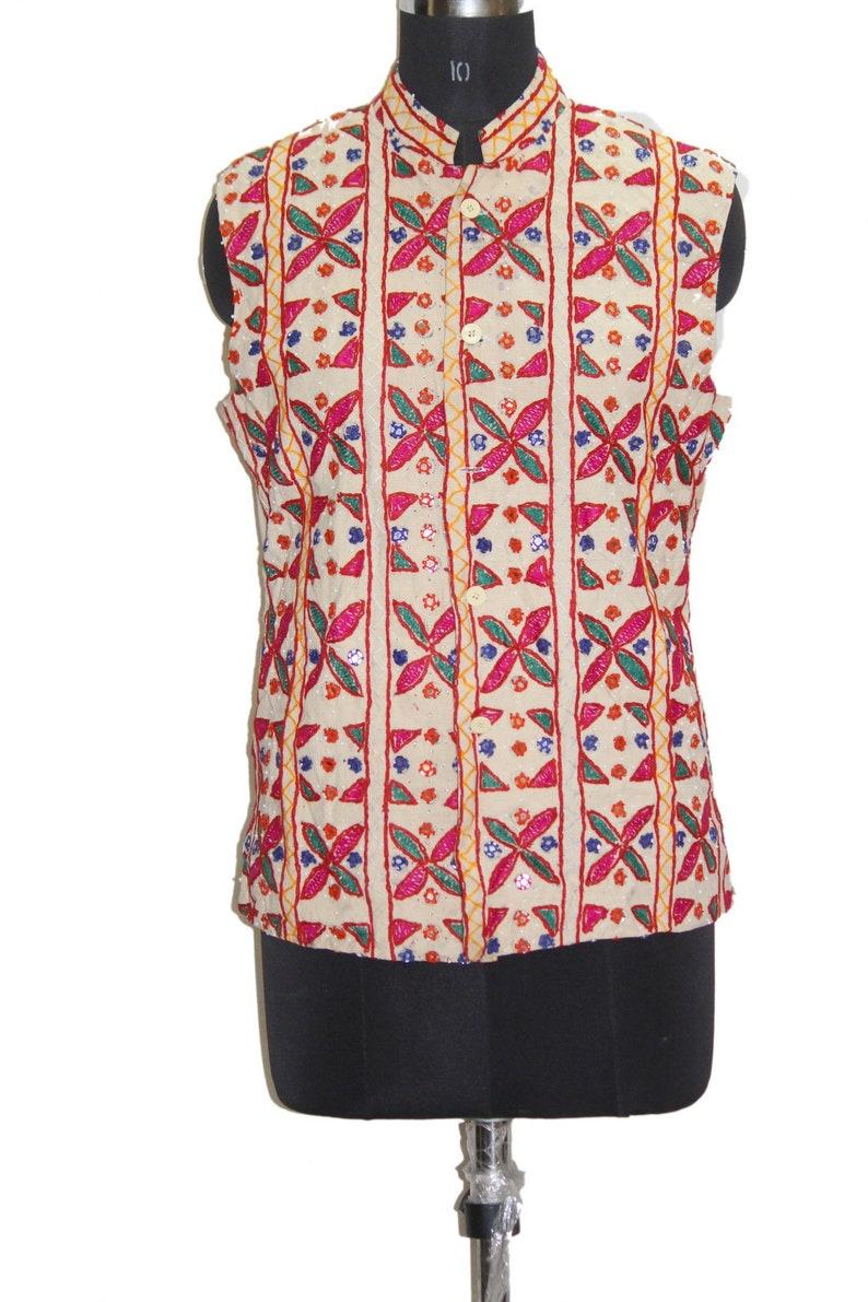 Vintage Ethnic Gujarati Rabari Traditional Rajasthani Badmeri hand Beaded  Embroidered MirrorWork Designer Pakkowork Wholesaler Tribal Jacket