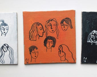 Faces - Set of 3