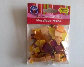 """Bag of 50 g of resin mosaic """"orange"""""""