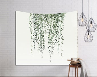 Nature Tapestry Wall Hanging for Living Room Floral Printing Wall Tapestry Flower Printed Tapestry Wall Art Decor Elegant Home Decoration