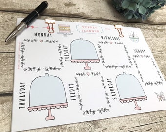 Baking Weekly Planner, A4 Planner for Baker, Cake Stationery, Baking Planner, Cookery Gift