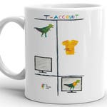T-Rex T-Account Funny Accountant Mug